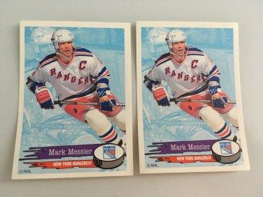 2 Mark Messier New York Rangers 1995/96 PANINI Hockey Sticker Cards # 102
