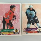 2 Jeremy Roenick, Mike Modano USA SUPERSTARS 1995/96 PANINI Hockey Sticker Cards