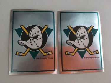 2 Anaheim Mighty DUCKS 1995/96 PANINI Team Logo Foil Hockey Sticker Cards # 229