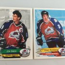 2 Joe Sakic, Peter Forsberg Colorado Avalanche 1995/96 Hockey Sticker Cards