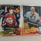 2 Peter Forsberg, Paul Kariya 1995/96 Panini ROOKIE RC Hockey Sticker Cards