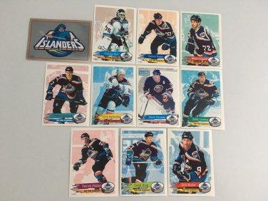 All 11 New York Islanders TEAM SET 1995/96 Panini Hockey Sticker Cards