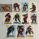 All 11 Ottawa Senators TEAM SET 1995/96 Panini Hockey Sticker Cards