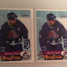 2 1995/96 Wendel Clark Colorado AVALANCHE PANINI Hockey Sticker Card # 247