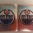 2 Edmonton OILERS 1995/96 Team Logo Foil PANINI Hockey Sticker Cards # 262