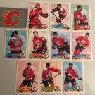 All 11 Calgary FLAMES TEAM SET 1995/96 Panini Hockey Sticker Cards - THEO FLEURY