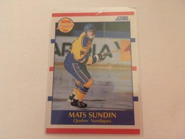 Mats Sundin 1990/91 Score Quebec Nordiques Rookie RC Hockey Card #398