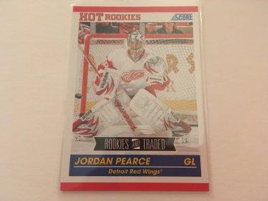 Jordan Pearce 2011/12 Score Detroit Red Wings Rookie and Traded Rookie RC Hockey Card #611
