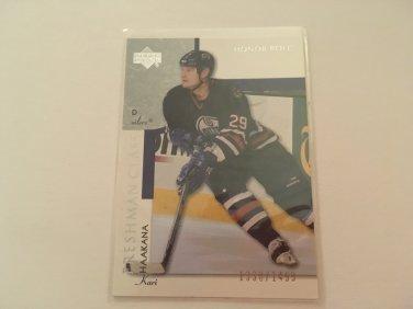 Kari Haakana 2002/03 Upperdeck Edmonton Oilers Freshman Class Rookie RC Hockey Card #113