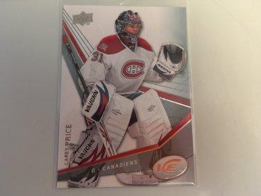 Carey Price 2008/09 Upperdeck Ice Montreal Canadiens Hockey Card #12