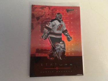 Martin Brodeur 1999/00 Upperdeck Ultimate Victory New Jersey Devils Stature INSERT Hockey Card #S7