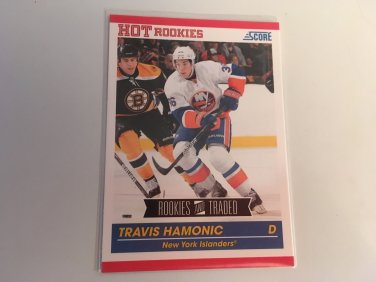 Travis Hamonic 2011/12 Score Rookie and Traded Rookie RC New York Islanders  Hockey Card #618