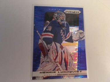 Henrik Lundqvist 2013/14 Panini Prism Blue New York Rangers BLUE INSERT Hockey Card #60