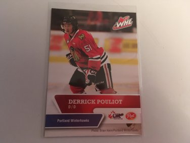 Derrick Pouliot 2012/13 POST Cereal Portland Winterhawks Rookie RC Hockey Card