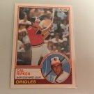 Cal Ripken 1983 O-Pee-Chee Baltimore Orioles Baseball Card # 163