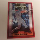 Mark McGwire 2000 Bowman St Louis Cardinals Major Power INSERT Baseball Card # MP1