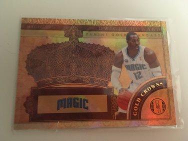 Dwight Howard 2010/11 Orlando Magic Gold Crowns INSERT Basketball Card # 2 Serial #'d /299