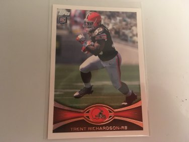 Trent Richardson 2012 Topps Cleveland Browns Rookie RC Football Card # 380