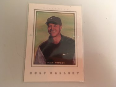 Tiger Woods 2001 Upperdeck Gold Gallery INSERT Rookie RC Golf Card # GG4