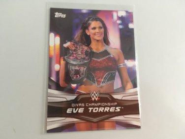Eve Torres 2016 Topps Woman's Diva Revolution WWE Wrestling Card #5
