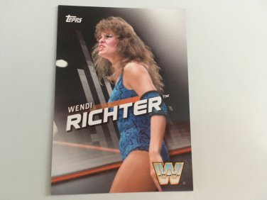 Wendi Richter 2016 Topps Woman's Diva Revolution WWE Wrestling Card #1