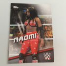 Naomi 2016 Topps Woman's Diva Revolution WWE Wrestling Card #27