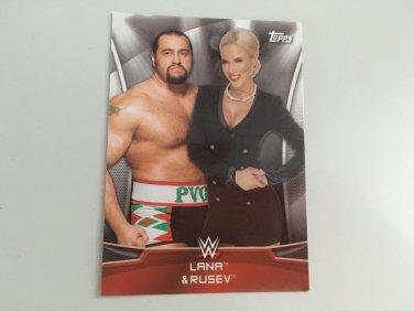 Lana, Rusev USO 2016 Topps Woman's Diva Revolution POWER COUPLES WWE Wrestling Card #9