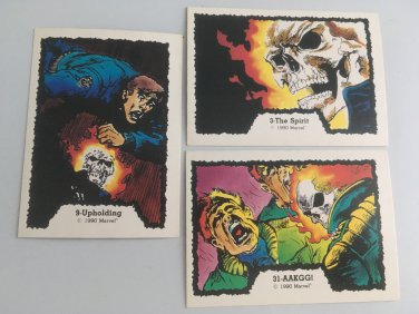All 3 Ghost Rider 1990 Marvel Comics Cards