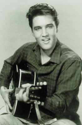 Elvis Presley Guitar Poster