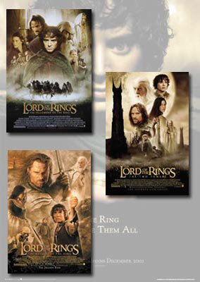 The Lord of The Rings Poster Set (3)