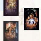 STAR WARS: EPISODE I, II, III Movie Poster Set
