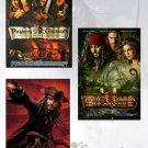 Pirates Of The Caribbean 1, 2, & 3 Movie Poster Set