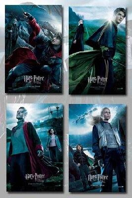 Harry Potter and The Goblet of Fire Movie Poster Set (4)