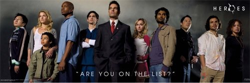 Heroes - Are You On The List? Door Poster