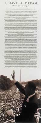 Martin Luther King Jr. Door Poster