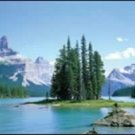 Maligne Lake Mini Door Poster