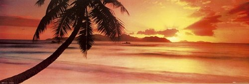 Pacific Sunset Mini Door Poster