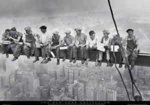 Eating Above Manhattan Poster