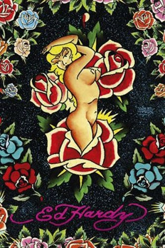 Rose Pin-Up - Ed Hardy Poster