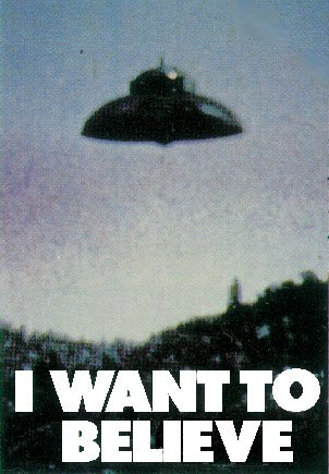 UFO - I Want To Believe Poster