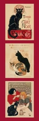 Le Chat Noir Mini Door Art Poster