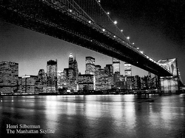The Manhattan Skyline Art Print - Henri Silberman