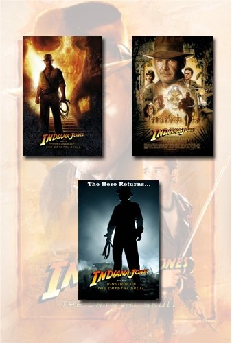 Indiana Jones And The Kingdom Of The Crystal Skull Poster Set