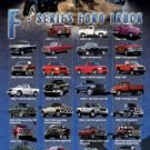F-Series Ford Trucks Collage Poster