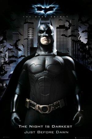 Batman - The Dark Knight : The Night Is Darkest Just Before Dawn Movie Poster