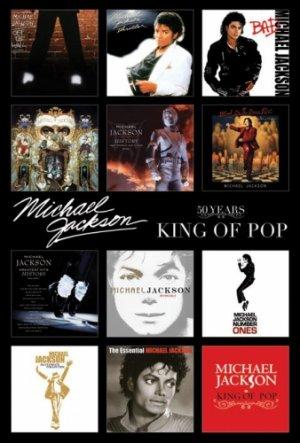Michael Jackson Album Covers Poster