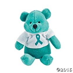 Teal Plush teddy Bear