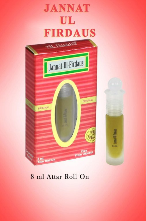 Al Nuaim Jannat ul firdaus 8ml Attar Perfume Oil Alcohol Free Natural Fragrance