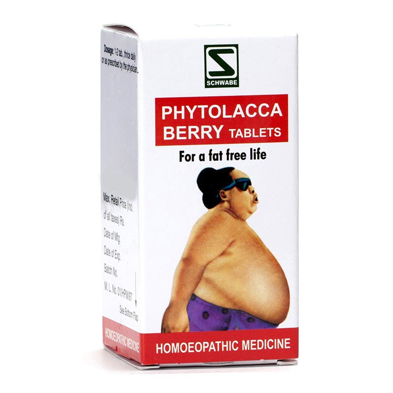 2xPhytolacca Berry Tablets For Fat Free Life perfect figure Homeopathic Medicine