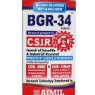 100% NATURAL BGR-34 TABLETS HERBAL Blood Glucose Metaboliser Ayurvedic Free Ship